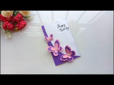 Beautiful Handmade Birthday Card Birthday Card Idea Youtube Handmade Birthday Cards Greeting Cards Handmade Birthday Greeting Cards Handmade