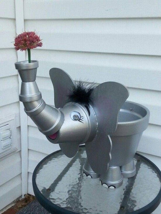 22 mod les d 39 animaux bricoler en pot de terre cuite - Animaux decoratif pour jardin ...