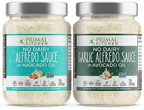 Amazon Com Primal Kitchen No Dairy Alfredo Sauce 2 Pack Plant Based And Vegan Friendly 1 Traditional 1 Garli In 2020 Alfredo Sauce Primal Kitchen Vegan Friendly