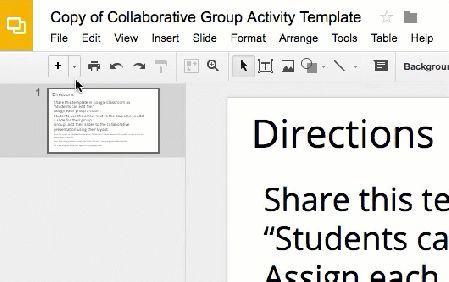 Google Slides adding layouts
