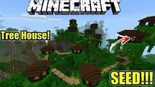 Seed Rumah Pohon Villager Top Seed Minecraft Pe Pocket Edition Mcpe Indonesia Minecraft Seeds Pocket Edition Minecraft Minecraft Seed