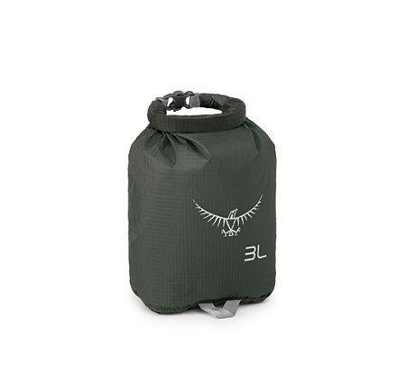 Osprey - Ultralight DrySack 3L •反射グラフィック•ハイビズ•完全防水のロールトップ閉口•生地と縫い目に完全防水コーティング済み•効率的にパッキングできる長方形•重量: 0.02kg•最大サイズ: 長さ 220mm x 幅 160mm x 奥行き 80mm