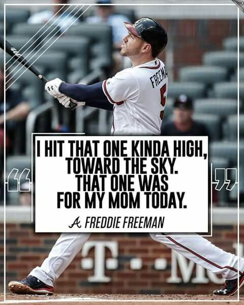 First Home Run After His Mom Died Atlanta Braves Baseball Braves Baseball Atlanta Braves
