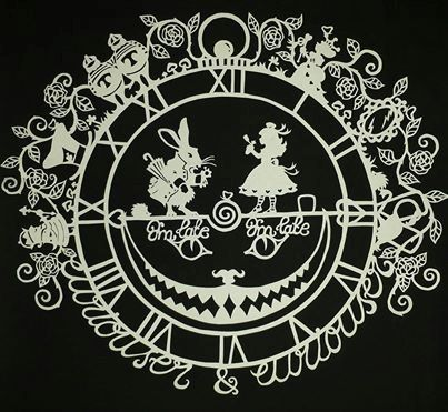 Alice and the White Rabbit Papercut DIY Template by CalicoCuts, £10.00