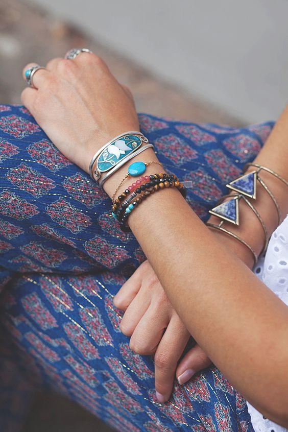 Palazzo pants + jewels