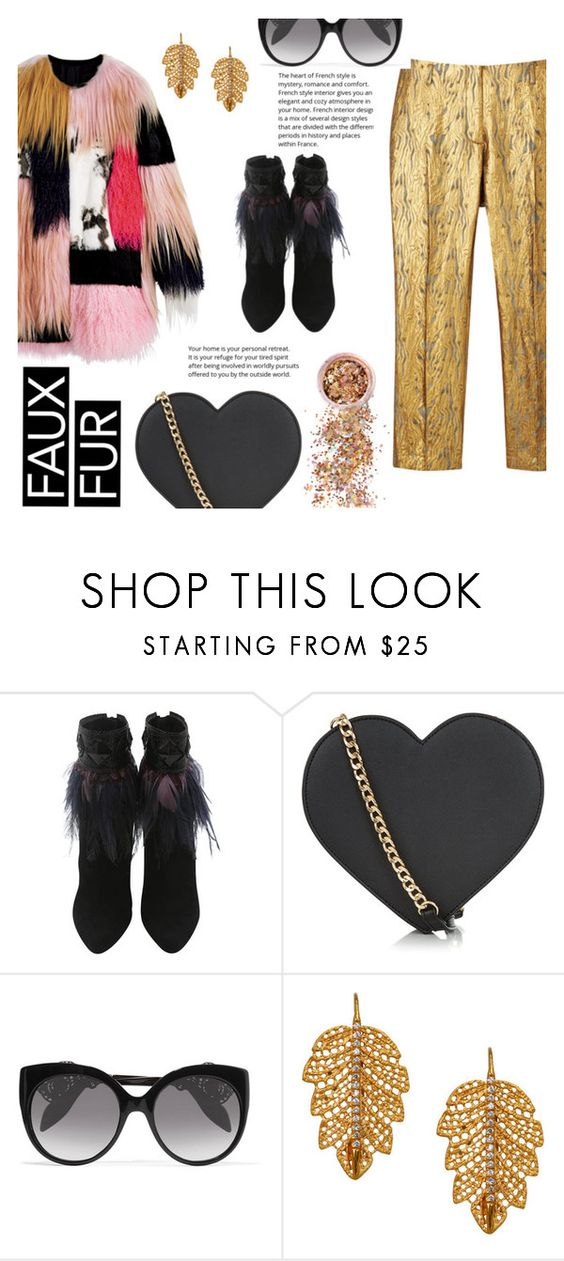 """""""Faux Fur"""" by juliehalloran ❤ liked on Polyvore featuring New Look, Alexander McQueen, Marika and In Your Dreams"""