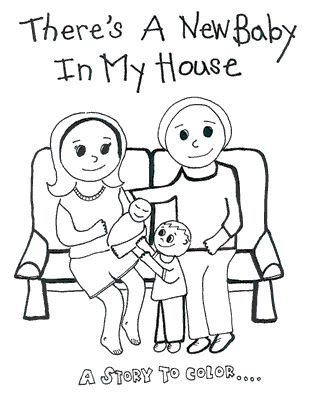 free printable coloring book there 39 s a new baby in my house big sister header