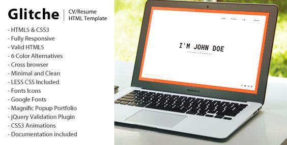 Chokha - Multipurpose HTML Template -    themekeeper item - resume html template