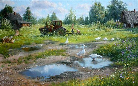На околице села, автор Владимир. Артклуб Gallerix