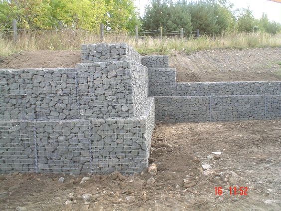 Gabion retaining wall systems