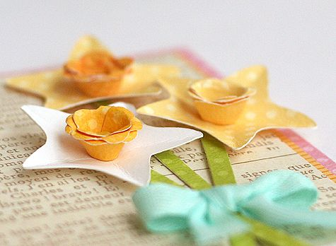 paper dimensional flowers.  This blog is FILLED with crafts, party ideas, scrapbooking, kids lunch ideas, etc.
