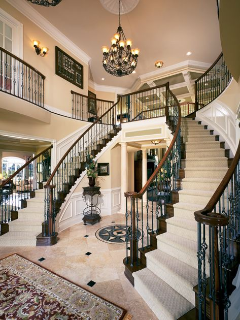 Double Staircase In The Henley Foyer At Tridelphia Crossing Maryland Homes The Mid Atlantic