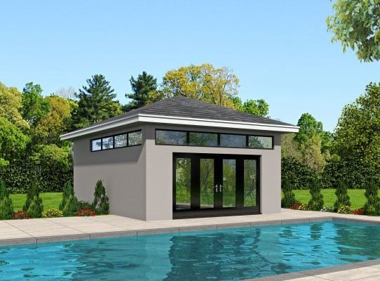 Glass View Pool House Coastal House Plans From Coastal Home Plans Pool House Designs Pool House Plans Modern Pools