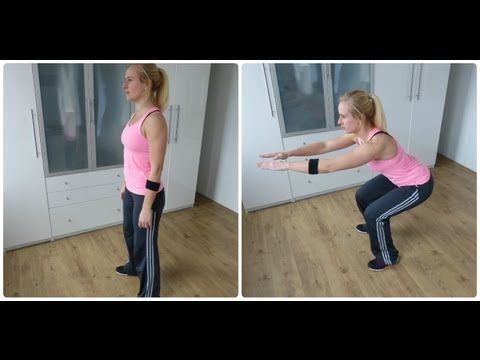 ▶ Beginner workout Vetvetbranding, Buik, Billen en Benen - YouTube