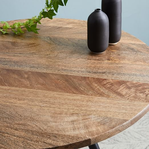 Wren Bistro Table Raw Mango Mango Wood Dining Table Bistro Table Kitchen Design Small