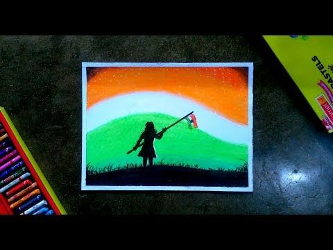 Youtube Independence Day Drawing Pastel Drawing Oil Pastel Drawings