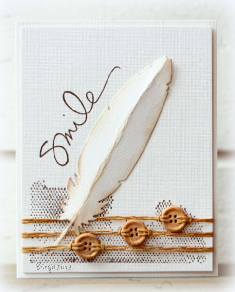 CAS222 TLC431 Feather by Biggan - Cards and Paper Crafts at Splitcoaststampers: