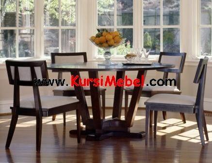 set kursi meja makan minimalis meja bulat ini merupakan