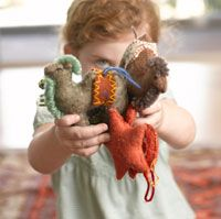 How cute are these wool horse and camel ornaments!  More awesomeness from the shop at Snow Leopard Trust...