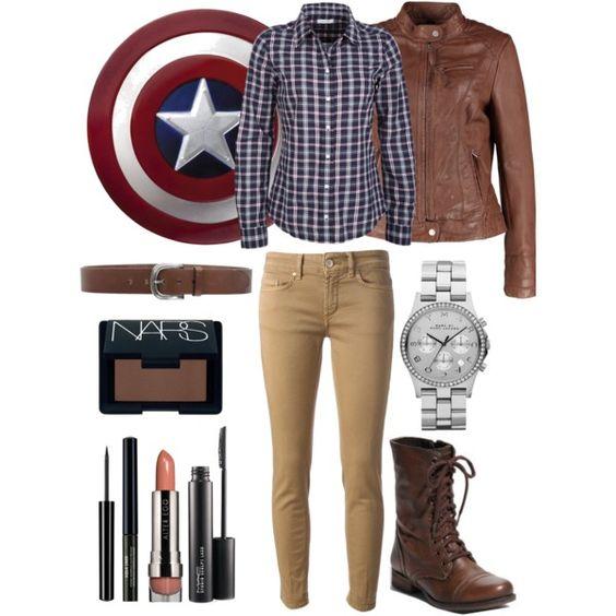 """Steve Rogers aka Captain America"" by nicoleecooper on Polyvore"