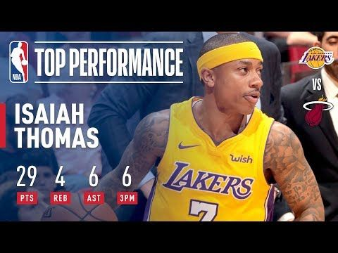 Isaiah Thomas Leads The Lakers With A Season High 29 Pts March 1 2018 Youtube Isaiah Thomas Lakers Isaiah