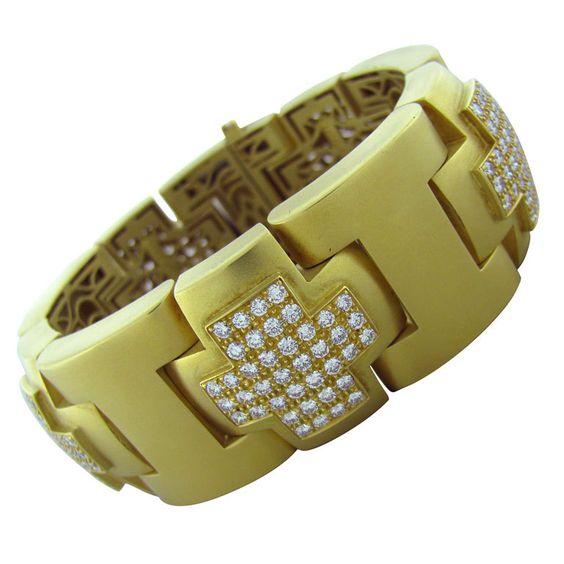 KIESELSTEIN CORD Diamond Gold Bracelet