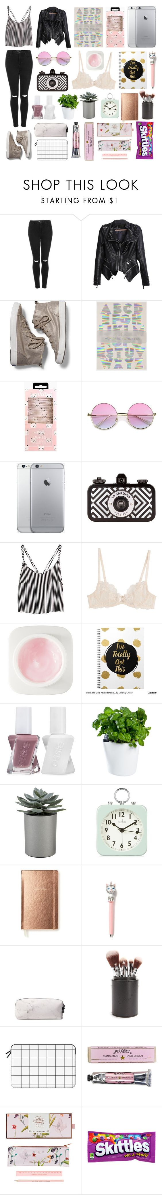 """""""Untitled #836"""" by gabrielarossadoguedes ❤ liked on Polyvore featuring Topshop, Keds, H&M, L'Agent By Agent Provocateur, Erno Laszlo, Essie, Royal VKB, Crate and Barrel, Acctim and Kate Spade"""
