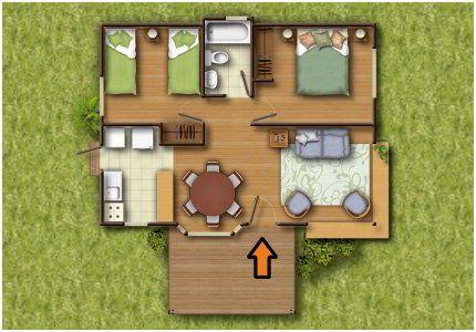 Planos casas de madera prefabricadas plano de casa - Planos de cabanas de madera ...