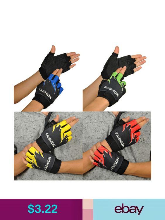 Breathable Fitness Cycling Biking Hiking Gel Half Finger Fingerless Sport Gloves