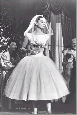 Audrey Hepburn, tea length wedding dress. probably already pinned this several times but it is my favorite!: