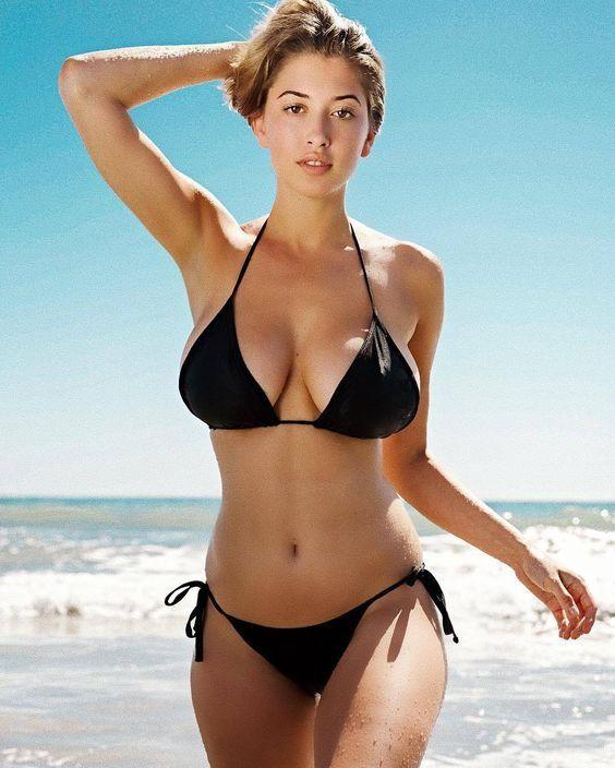 SHEKINI Women's Tie Side Bottom Padded Top Triangle Bikini