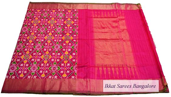 Gorgeous Ikat pure silk saree in patola pattern  Code: ISB5206 Write to ikkatsareesbangalore@gmail.com or inbox the message. Contact : +918792177606 www.facebook.com/ikkatsareesbangalore