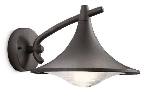 Philips Cedar Lampada da Parete, Lanterna Down, Alluminio, Antracite: Philips: Amazon.it: Illuminazione