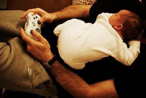 Gamer dad <3 baby - Papai daddy papa papá papà - Pai Father Padre Père