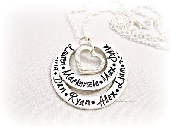 Hand Stamped Layered Eternity Washer by DanielleJoyDesigns on Etsy