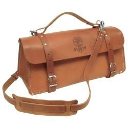 18'' (457 mm) Deluxe Leather Bag - 5108-18 | Klein Tools - For Professionals since 1857