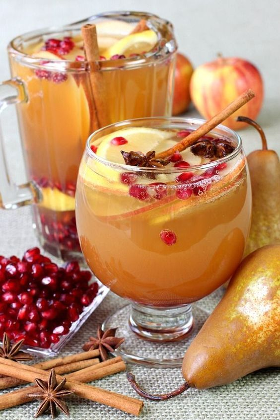 RecipeGirl Apple Cider Sangria - Recipe Girl