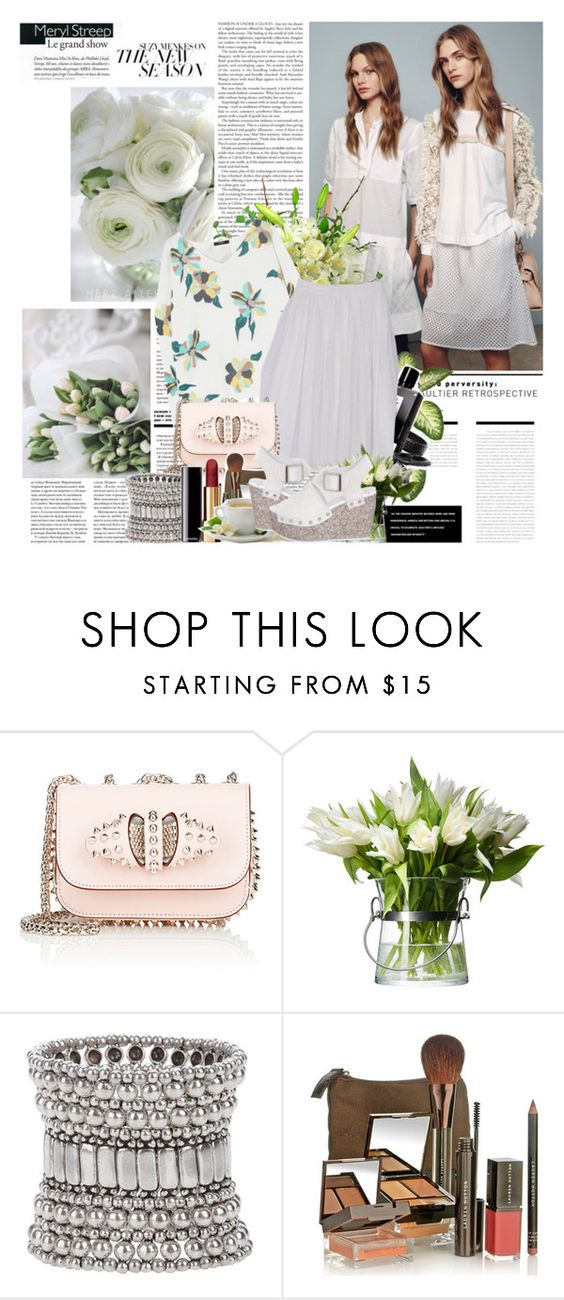 """Safari flower"" by lidia-solymosi ❤ liked on Polyvore featuring Christian Louboutin, Branca, PLANT, Philippe Audibert, Chanel and Lauren Hutton"
