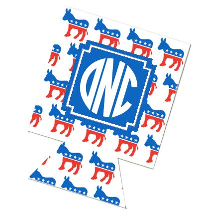 Democrat Monogram Koozies AHHHHHHHH  @Miss Arushi @Madeleine Loftus @Chrissy Grandin @Natalie Nehme