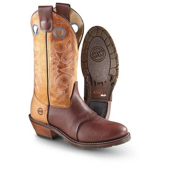 Western Work Boots for Men | ... Western Boots / Men's Double-H Boots® Roper Work Western Boots, Tan