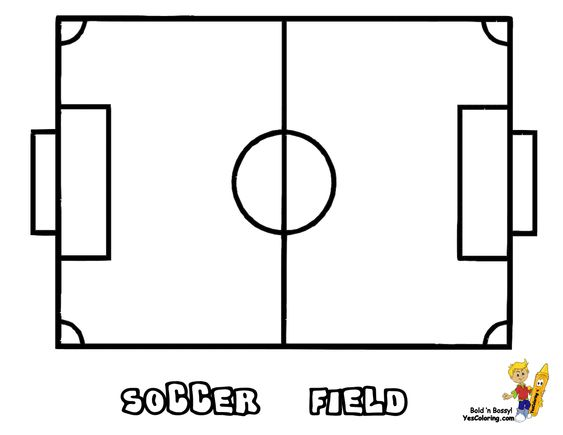 Soccer Field #Coloring_Page You Can Print Out This #Soccer
