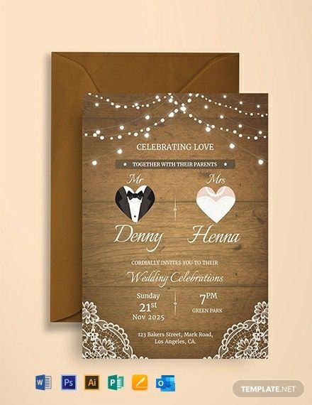 Vintage Wedding Invitation Card Template Free Jpg Illustrator Word Outlook Apple Pages Psd Publisher Template Net Vintage Wedding Invitation Cards Wedding Invitation Card Template Marriage Invitation Card