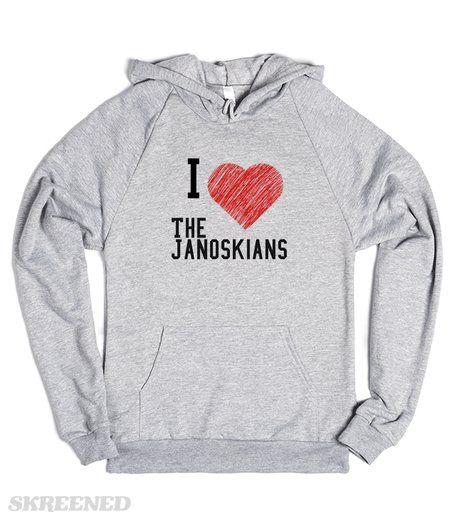 I love the Janoskians  Printed on Skreened Hoodie