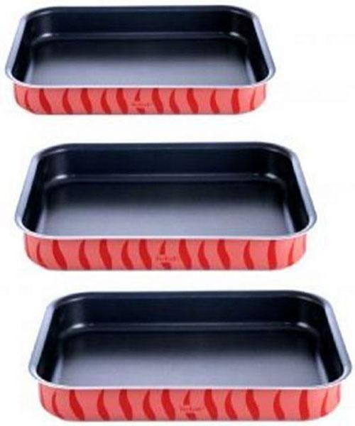 صوانى فرن مستطيلة تيفال 3 قطع Grilling Grill Pan Kitchen