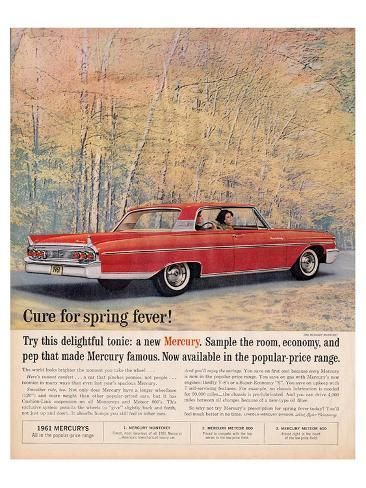 Premium Giclee Print: 1961 Mercury - Spring Fever : 24x18in