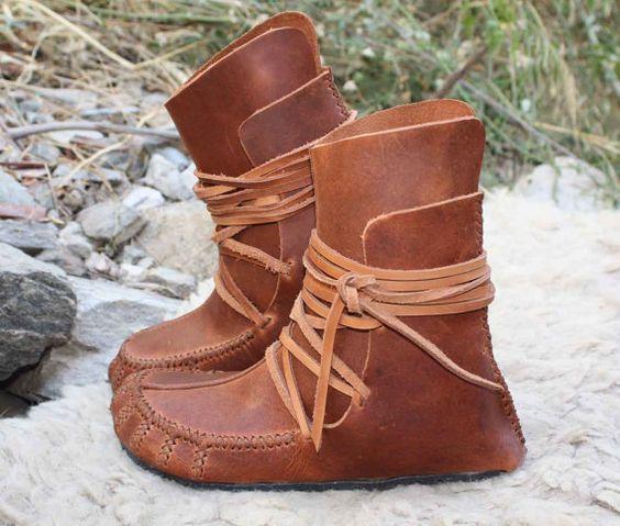 Womens mocassin enveloppe bottines, cuir souple espagnole, à la main avec amour, ces bottes sont élégants confortable et sain.