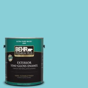 BEHR Premium Plus Home Decorators Collection | Sky Watch | Semi-Gloss Enamel Exterior Paint | at The Home Depot
