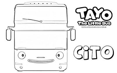 Tayo The Little Bus Halaman Mewarnai Buku Mewarnai Warna