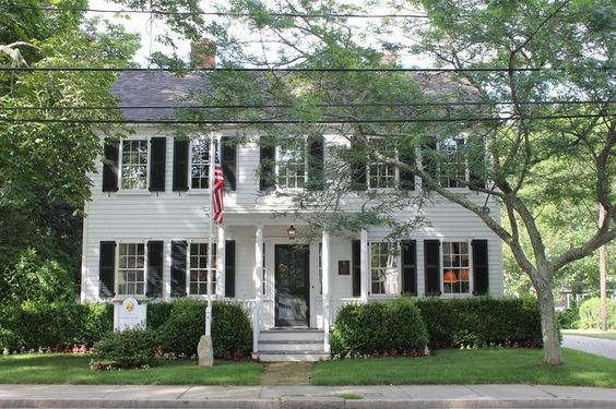 The historic home of Katharine Lee Bates, just off the village green has been lovingly restored and sparkles at the entrance to Falmouth's downtown area.