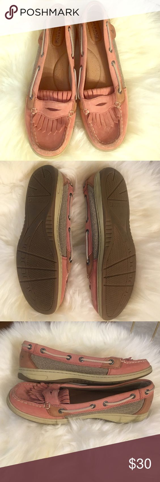 Sperry boat shoes 8.5. Sperry boat shoes. Slip on shoes - no laces! Light pink like new Sperry Shoes Flats & Loafers
